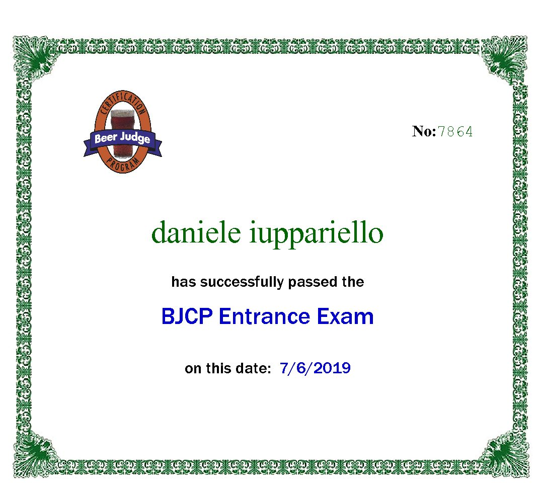 Il mio esame BJCP